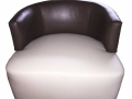 Custom-Brown-Round-Chair-by-GN-Upholstery-Los-Angeles