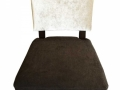 Custom-Dinning-Chair-White-Brown-by-GN-Upholstery-Los-Angeles-front